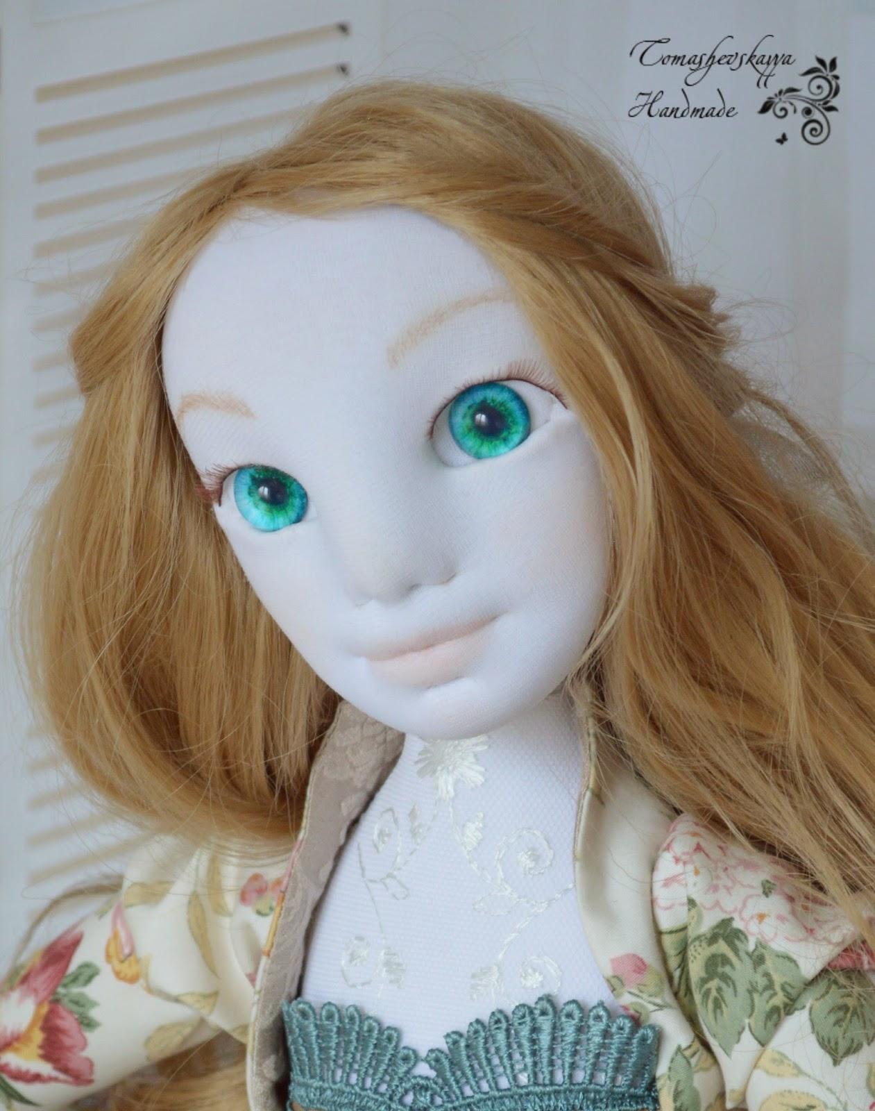 Красивая текстильная кукла фото
