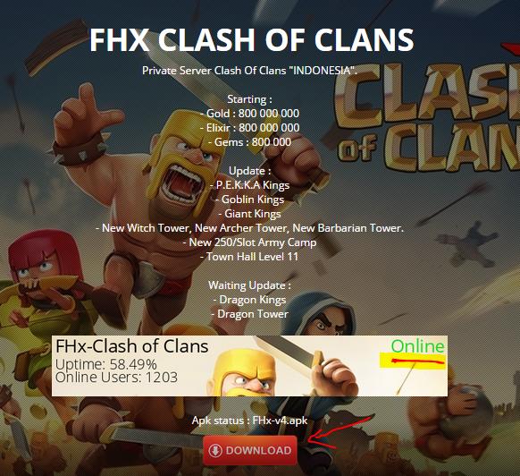 FHX COC Server Clash 1.5.0 Изтегляне на APK за Android ...
