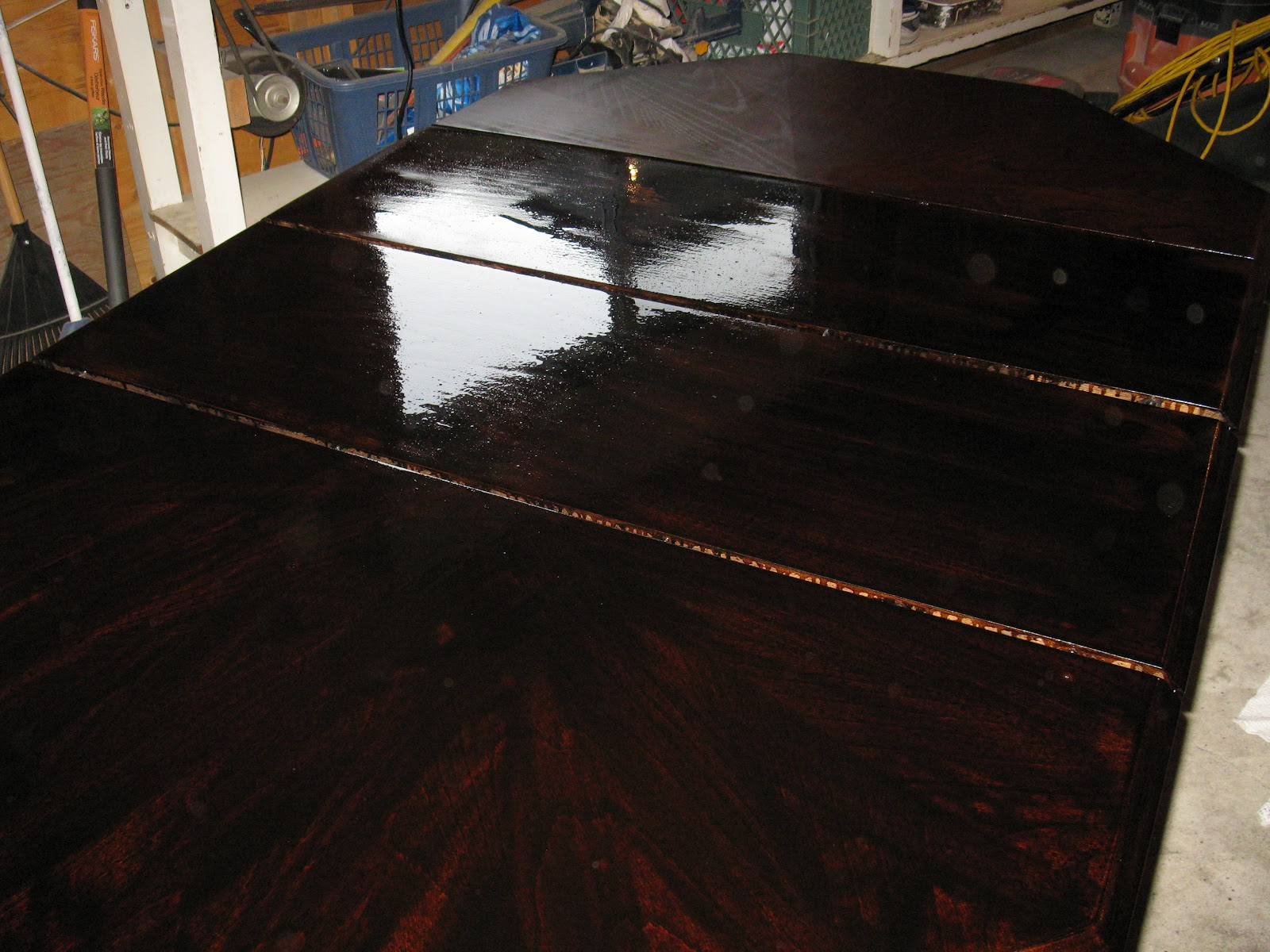 This time i applied dark walnut stain by minwax and let it sit for 20