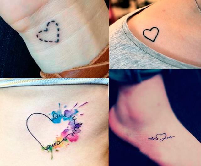 Inspiração, Tatuagens, femininas, coração, delicadas