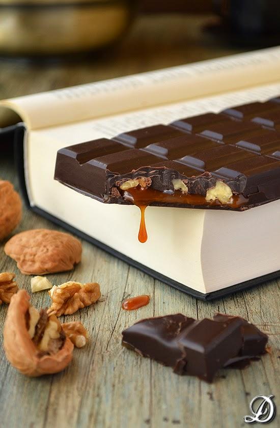 Tableta de Chocolate, Nueces y Toffee de Pimienta de Jamaica