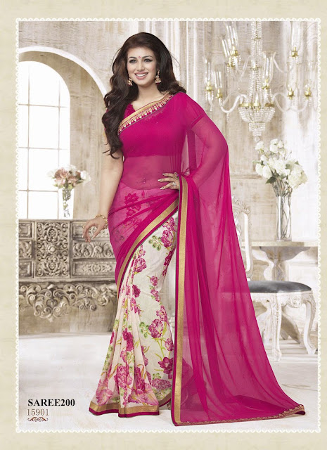 Purchase Georgette Designer Saree – Online Shopping