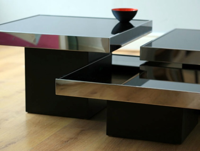 willy rizzo,meubles,table basse