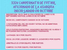 XXIV CAMPEONATO DE FUTBOL AFICIONADO DE LA AXARQUIA
