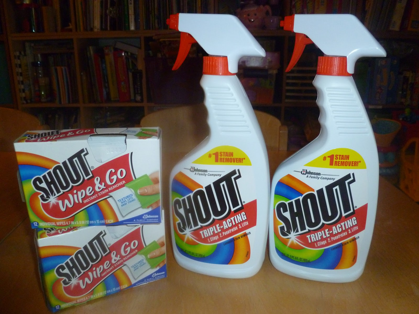 SHOUT STAIN REMOVER REVIEW & GIVEAWAY Mama to 6 Blessings