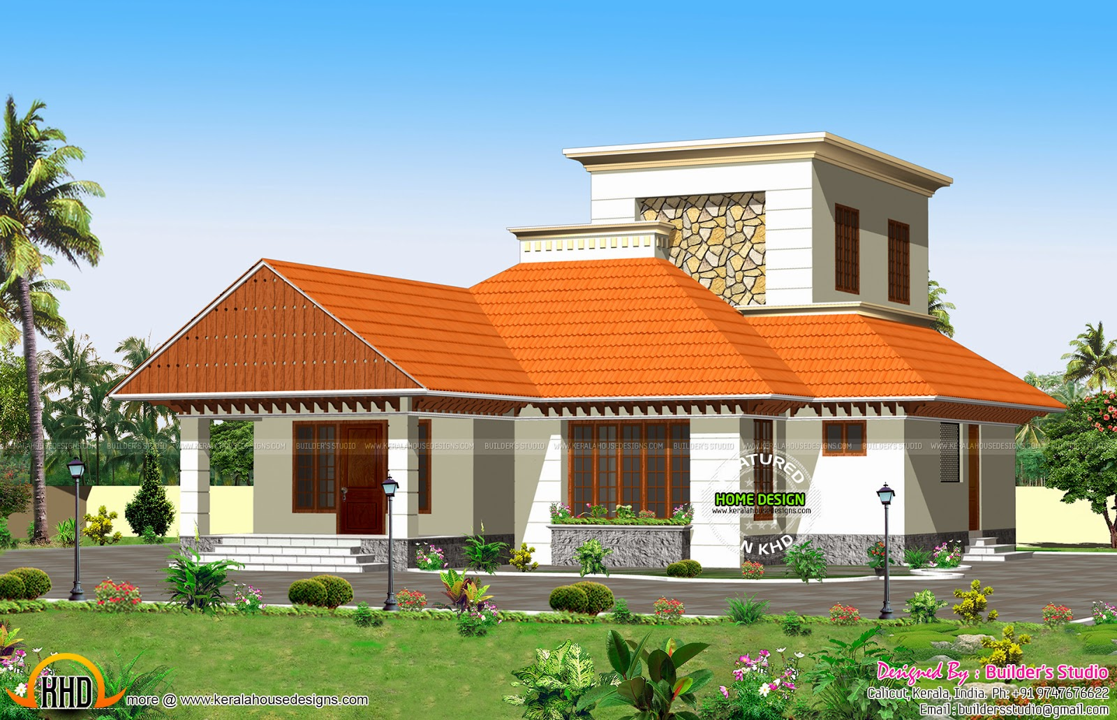 One floor 1600 sq ft house kerala home design and floor for 1600 square foot house