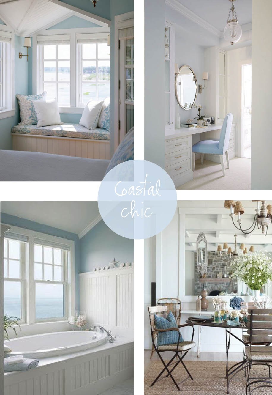 Coastal style pale blue beige hamptons style for Hamptons decor