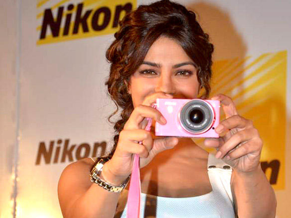 priyanka chopra launches nikon 1 cameras cute stills