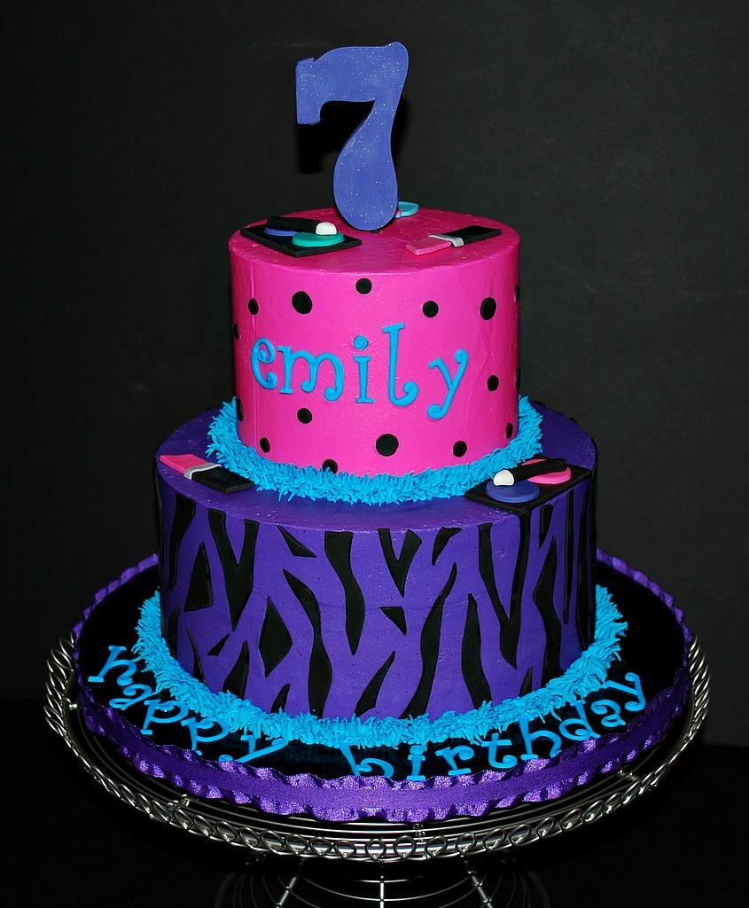 The Bakery Next Door: Zebra & Polka Dot Birthday Cake