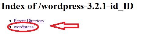 wordpress Directory localhost