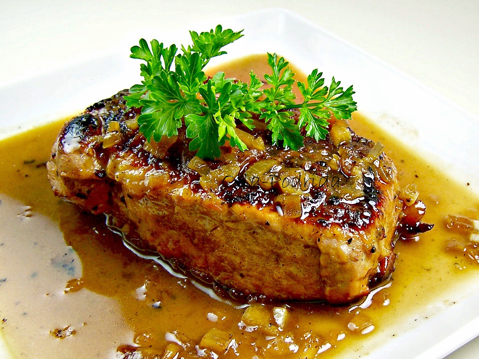 Brined, Grilled Pork Chops With Tarragon-Grape Salad Recipe ...