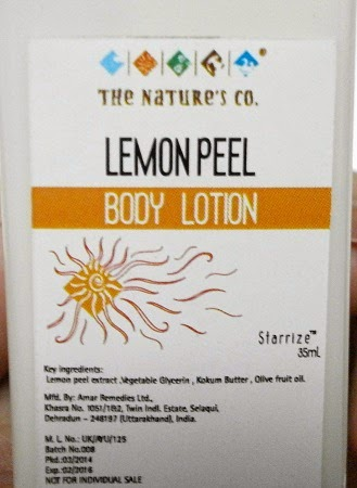 The Natures Co Beauty wish box March, Lemon peel body lotion