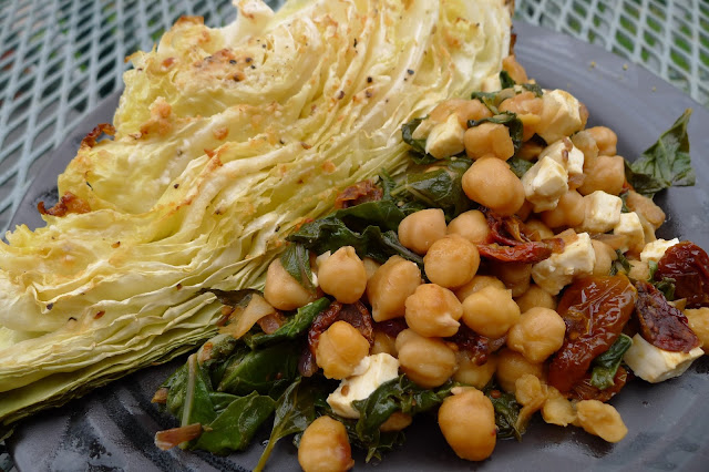 Roasted Caraflex Cabbage and chickpea stew