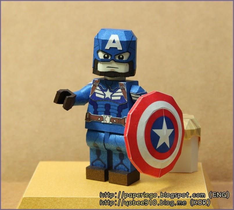 Lego Captain America Papercraft