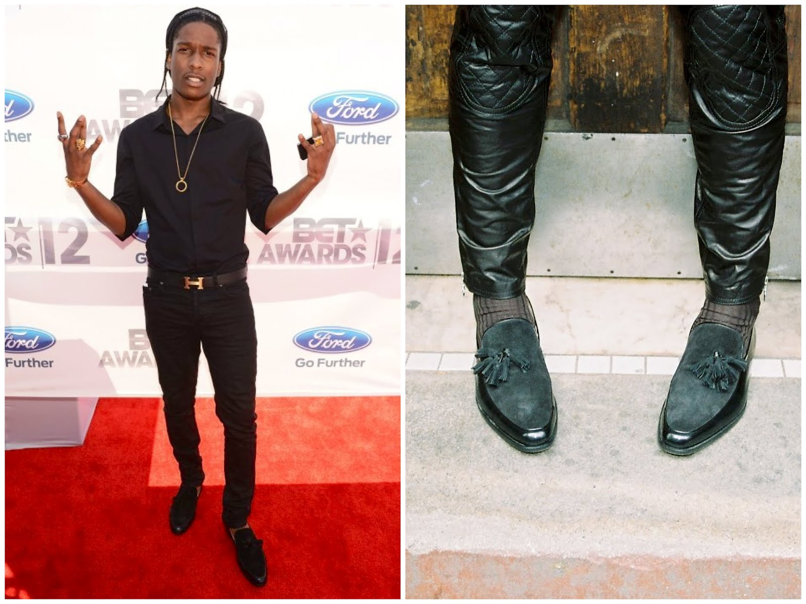 00o00 London Menswear Blogger Celebrity Style A$AP Rocky Bet Awards 2012 Mr Hare Genet shoes tasselled loafers
