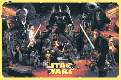 Star Wars: The Original Trilogy Standard Edition Screen Print by Grzegorz Domaradzki (Gabz) x Bottleneck Gallery x Acme Archives Direct
