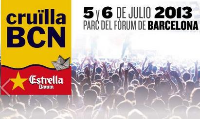 Festival Cruilla Barcelona 2013. 5 y 6 de Julio