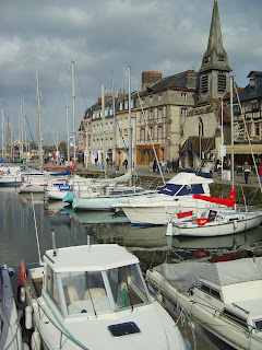 boats in the harbor at Honfleur, France