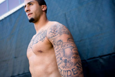 411: Nes Andrion [depicted below] is Colin Kaepernick's tattoo artist