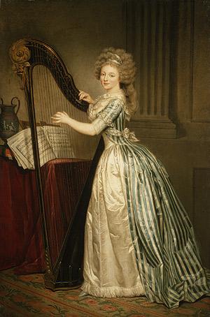 eighteenth century women painters in the world of the self portrait harp by rose adatildecopylaatildemacrde ducreux ca 1790