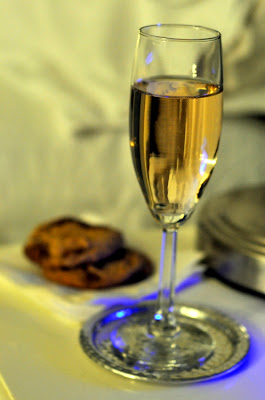 Sparkling Wine and Chocolate Chunk Cookies at The Inn on First in Napa, CA - Photo by Taste As You Go