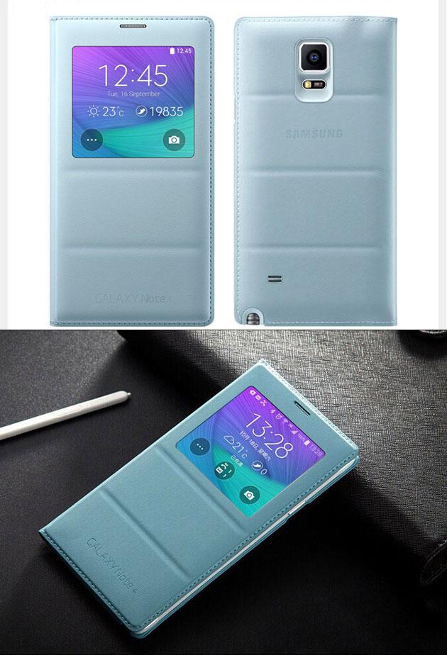 เคส S-View Note 4 รหัสสินค้า 131035 สีฟ้า
