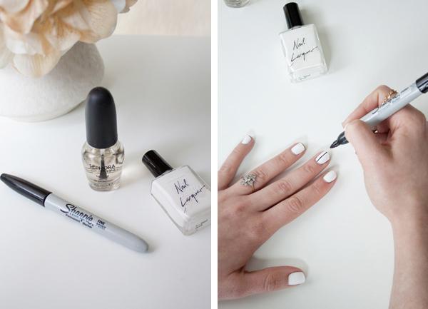 Minimalist nail art inspired by Tibi spring 2014