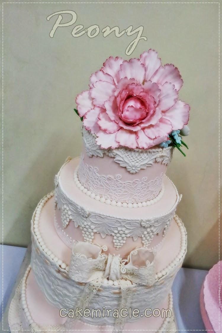 Cake miracle by Peni Respati: Peony Flower