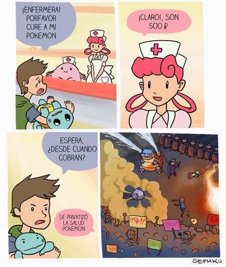 humor pokemon - salud privatizada