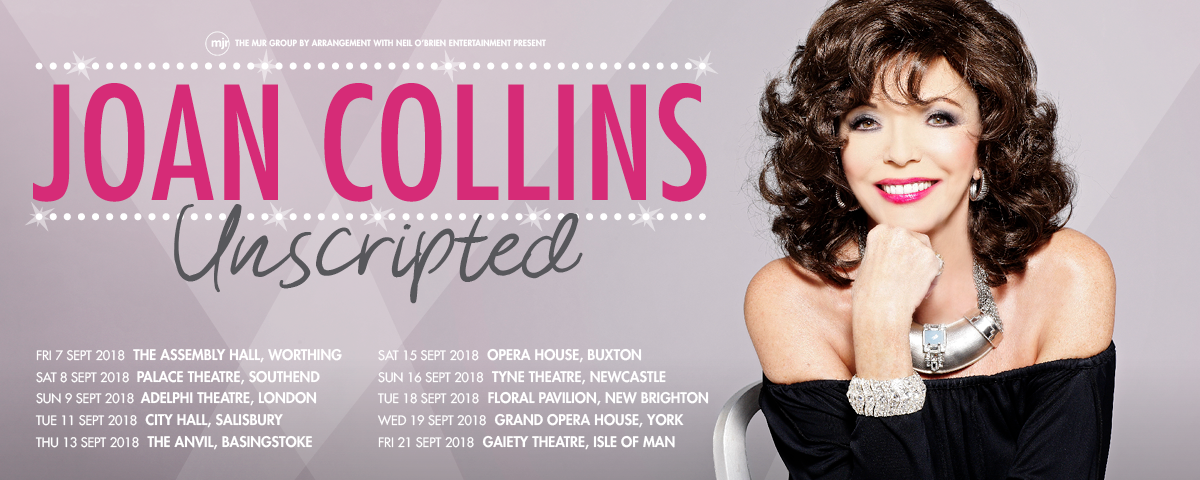 Joan Collins Unscripted 2018 Tour