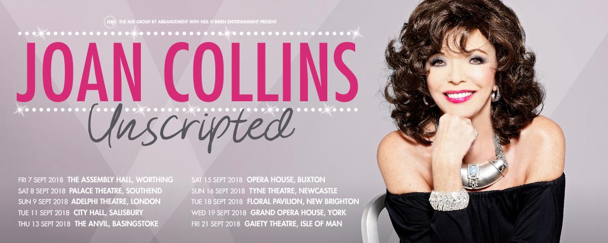Joan Collins Unscripted 2018 Tour