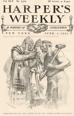 Harper's Weekly cover cartoon