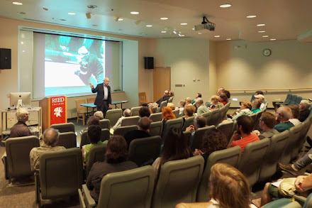 """Paul Herrera gives """"Life and Times of Catich"""" lecture at Reed College, Portland, Oregon!"""