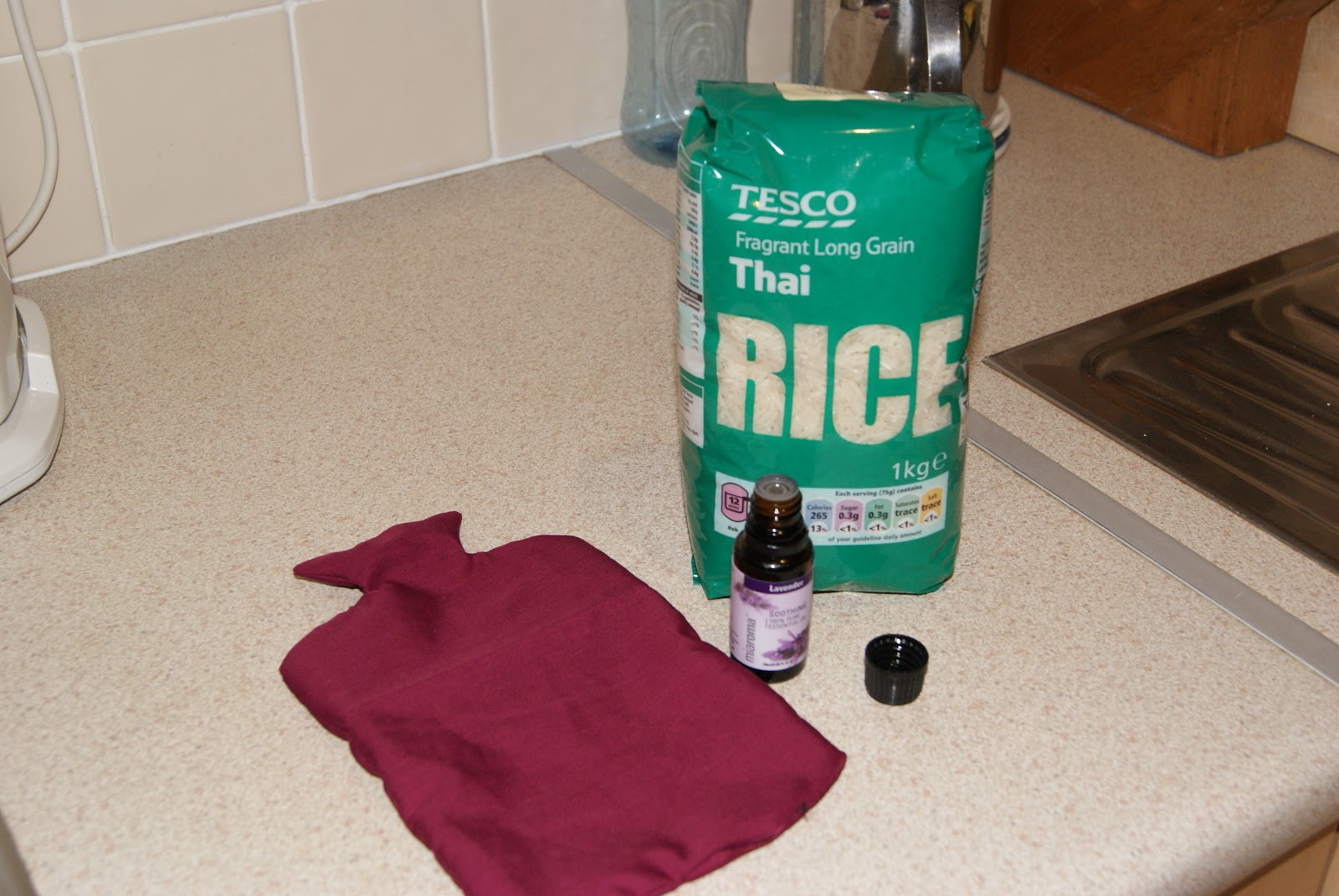 how to make a hot water bottle with rice