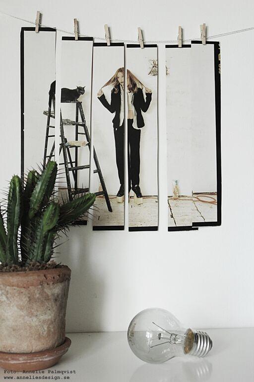klippa itu en bild i strips och hänga upp med små klämmor, upphängningstips, tips, inredning, inspiration, interior, webbutik, webshop, nettbutikk, nettbutikker, webbutiker, tavla, tavlor, kaktus, kaktusar, inredning, annelies design,