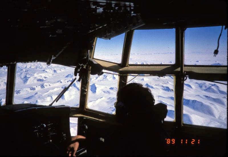 Northern Victoria Land, Antarctica, seen from New Zealand Hercules. Photo © Bruce Luyendyk