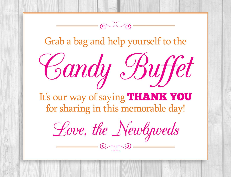 Weddings by Susan: Hot Pink and Orange Printable Wedding Candy ...