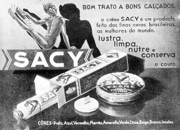 Propaganda do Creme Sacy para calçados veiculada em 1936