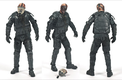 McFarlane Toys The Walking Dead (TV Series) Series 4 - Gas Mask Riot Gear Zombie Figure
