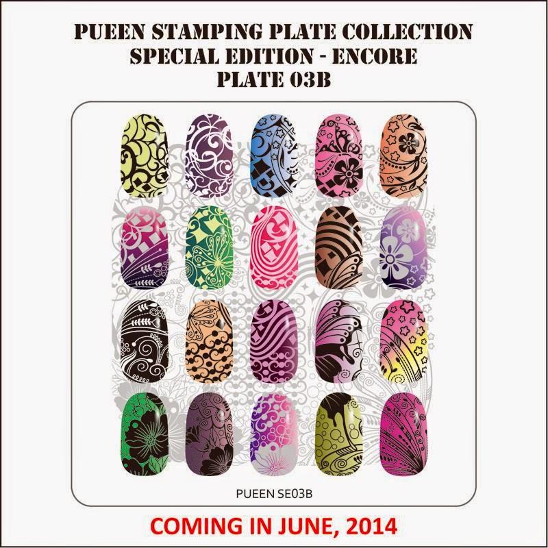 Lacquer Lockdown - Pueen Cosmetics, Pueen, Encore Collection, Pueen Encore Collection, new stamping plates 2014, new nail art stamping plates 2014, new nail art image plates 2014, new image plates 2014, new nail art plates 2014, diy nail art, cute nail art ideas, new nail art ideas,