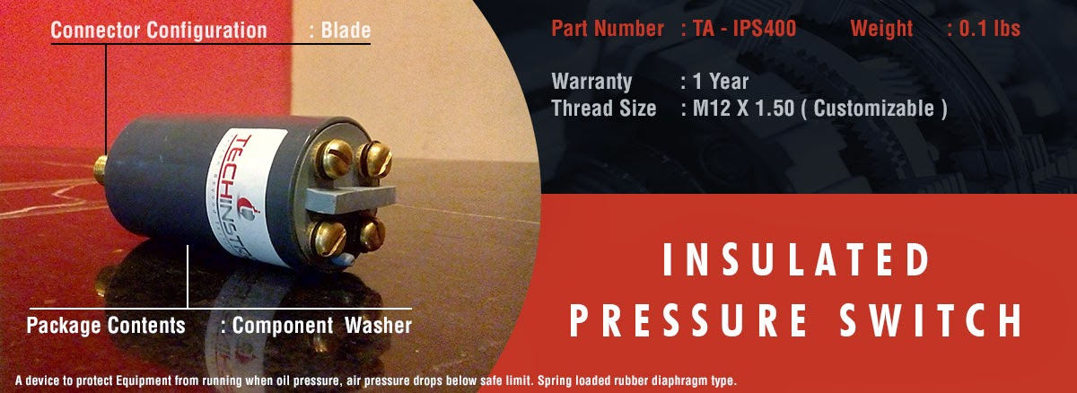 INSULATED PRESSURE SWITCH