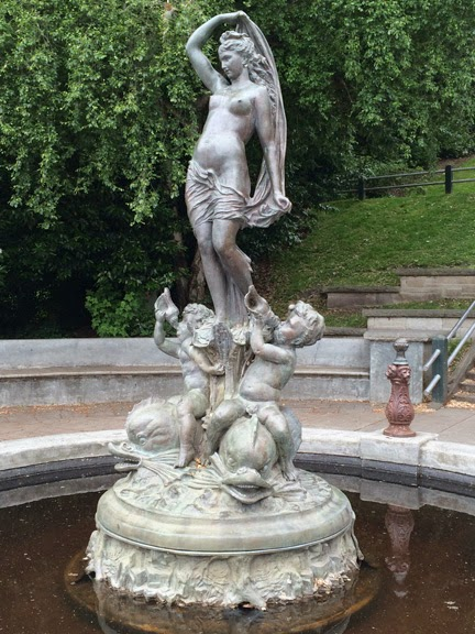 Statue at Haller Fountain