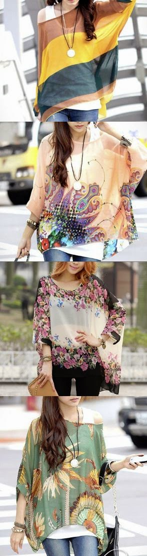 See more Women Summer fashion chiffon tunic line up.
