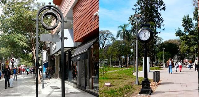 El municipio está reparando los relojes de peatonal Rivadavia
