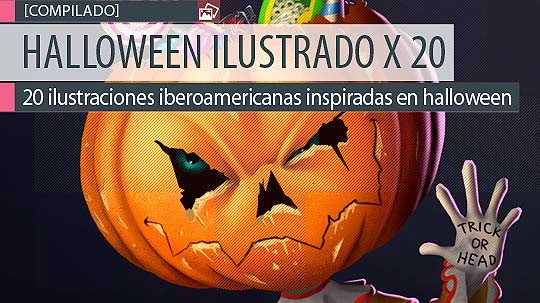 Ilustración compilada. Halloween ilustrado 2