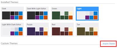 visual studio 2012 color theme change