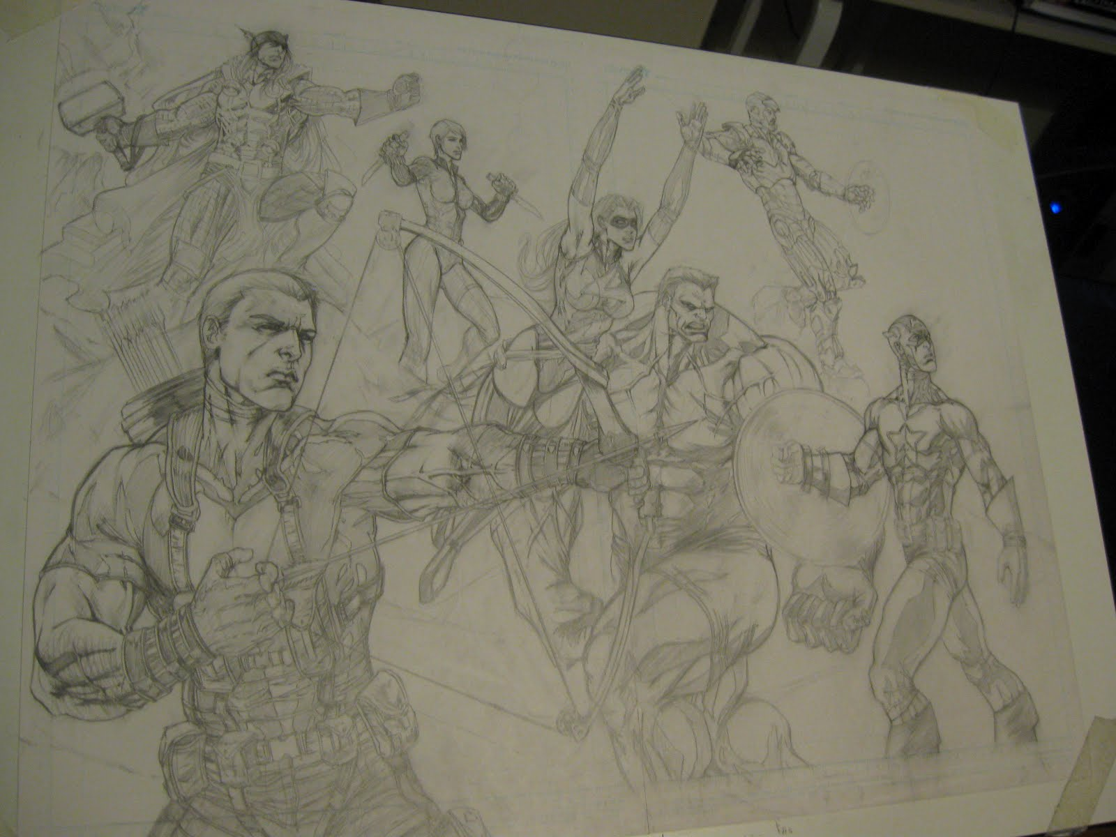 Sketch Paddys Avengers Pencils