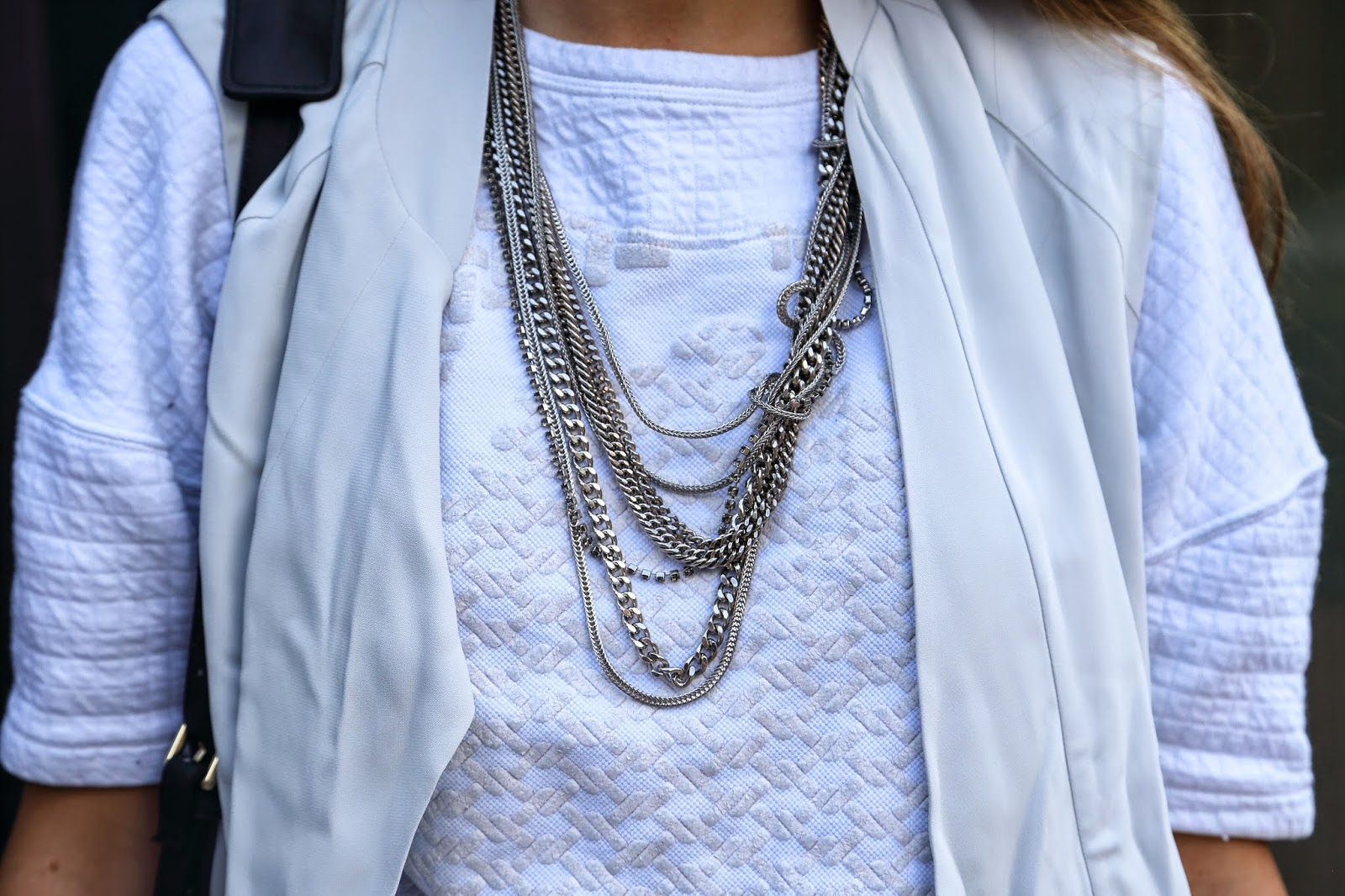 maxmara necklace silver