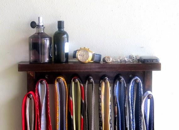 tie rack and shelf