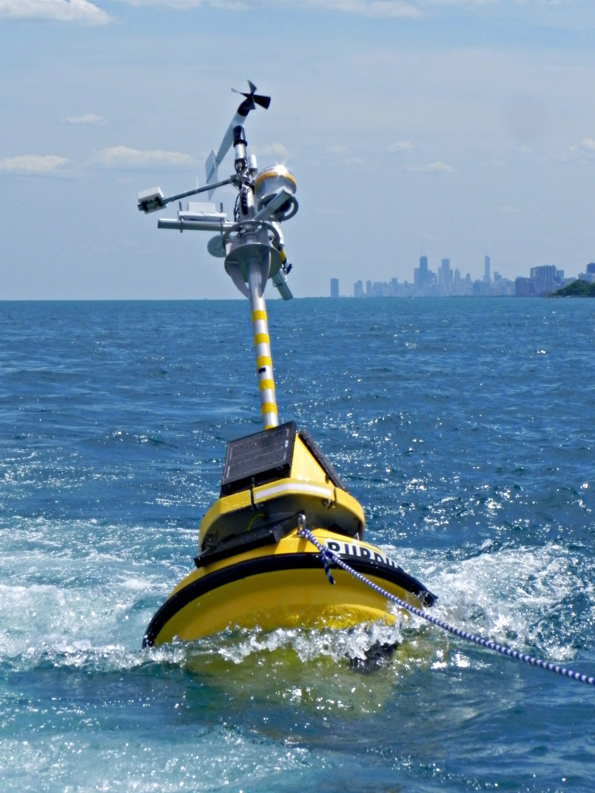 New Buoy Offers Real Time Lake Michigan Data Illinois
